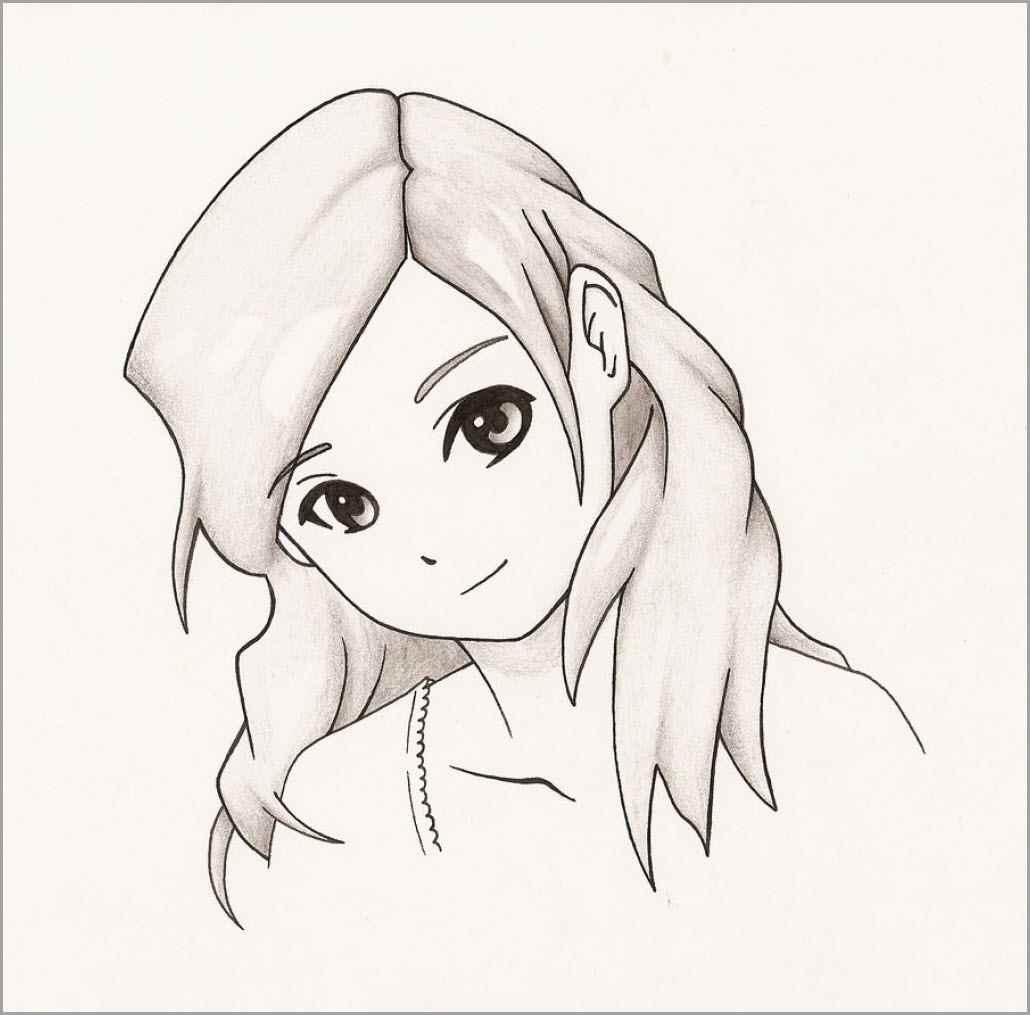 Красивые аниме девушки для срисовки, рисунки 14