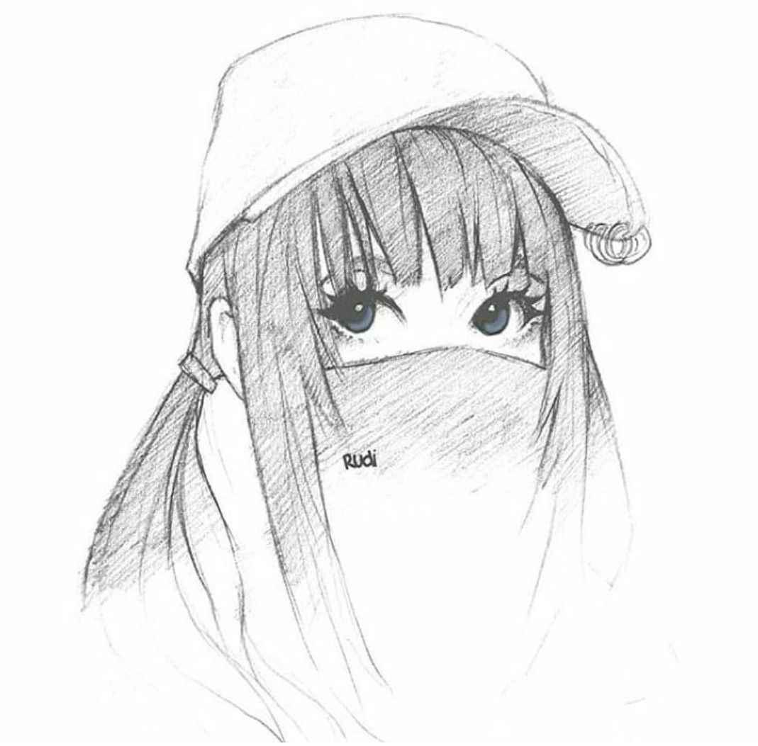 Красивые аниме девушки для срисовки, рисунки 21
