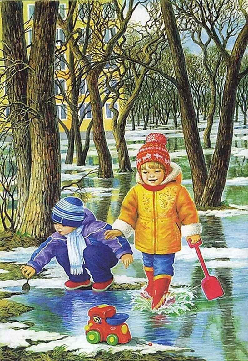 Красивые картинки для детей весна пришла 08