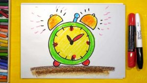 Красивые рисунки часов карандашом 13