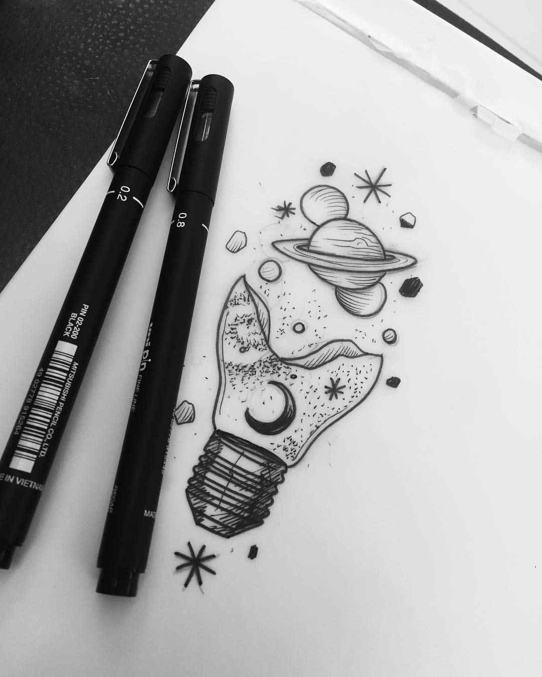 Красивые срисовки для скетчбука маленькие и милые 12