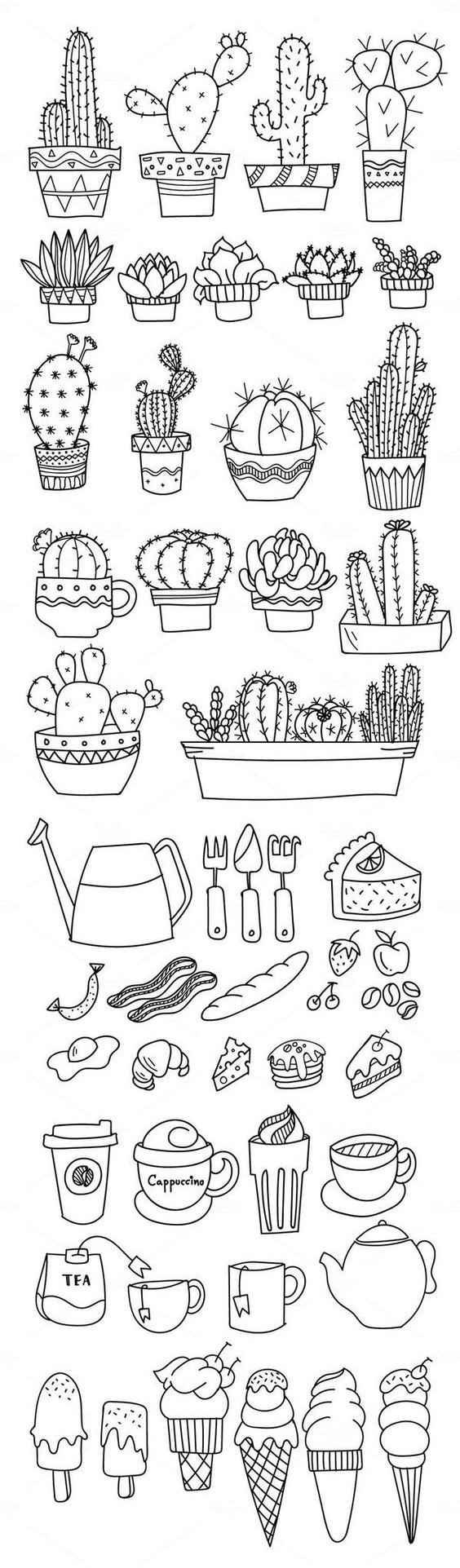 Красивые срисовки для скетчбука маленькие и милые 22