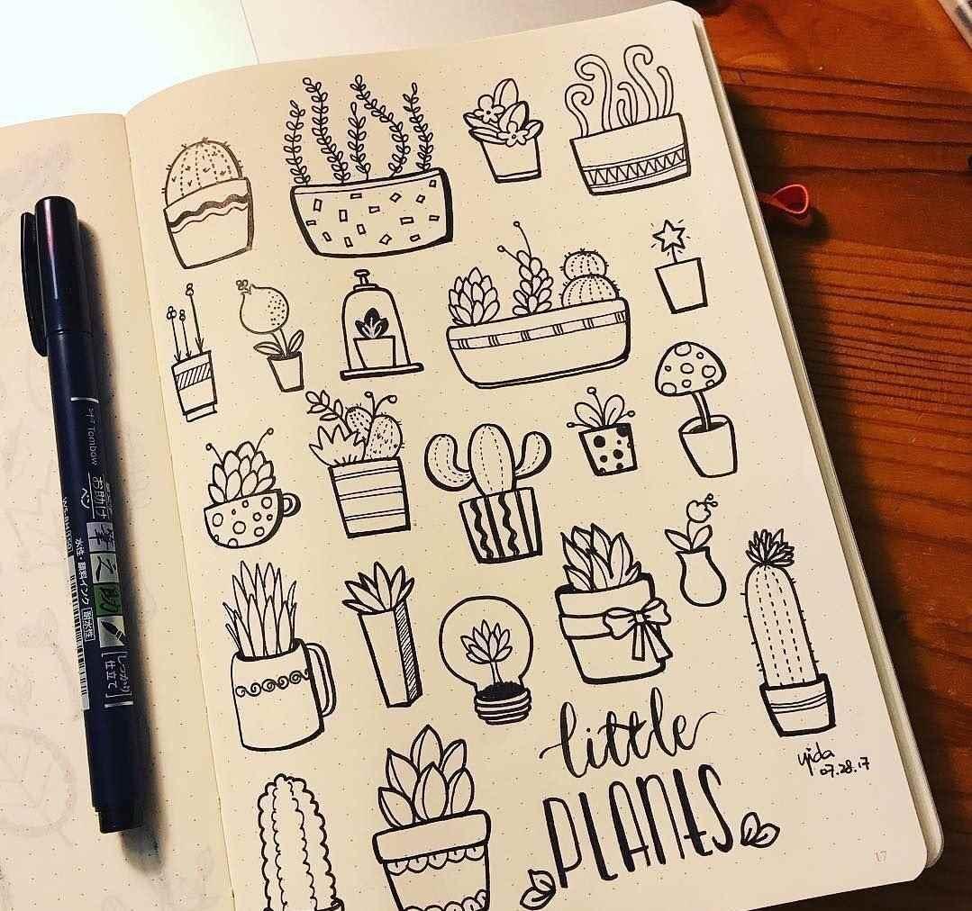 Красивые срисовки для скетчбука маленькие и милые 23