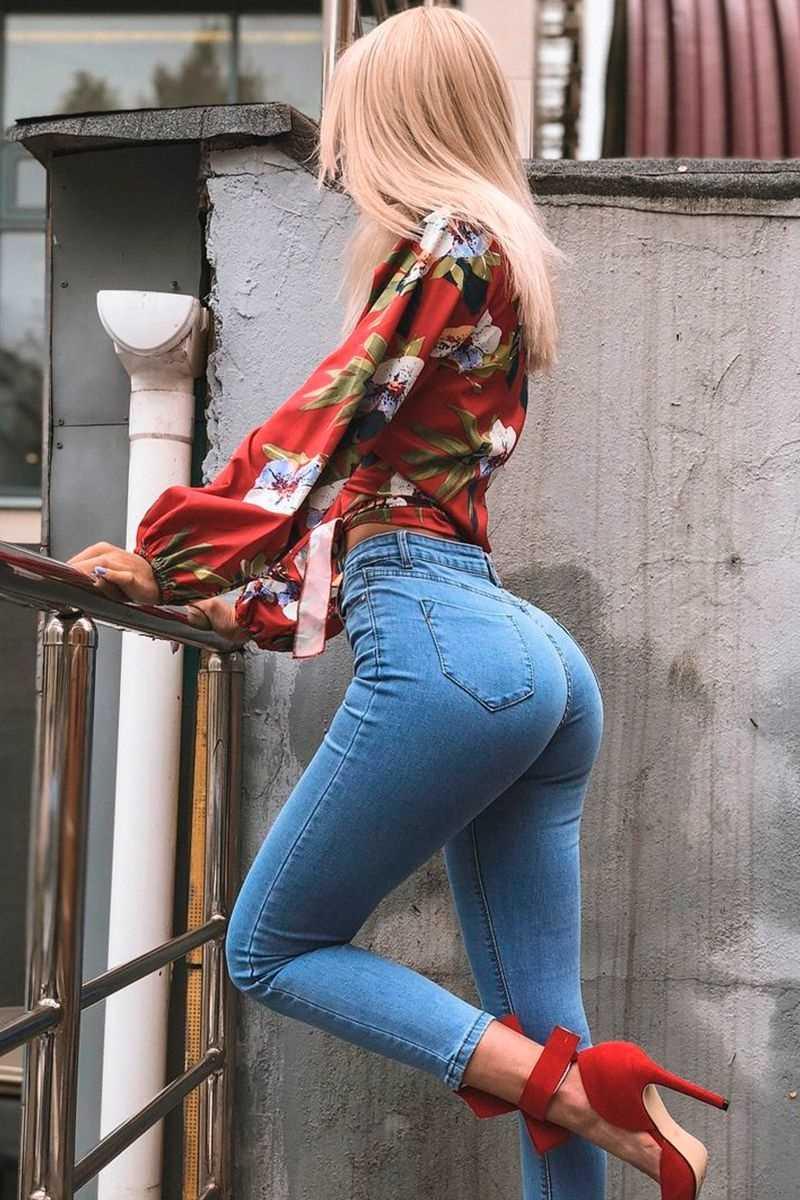 Красивые фото девушек джинсы, картинки 13