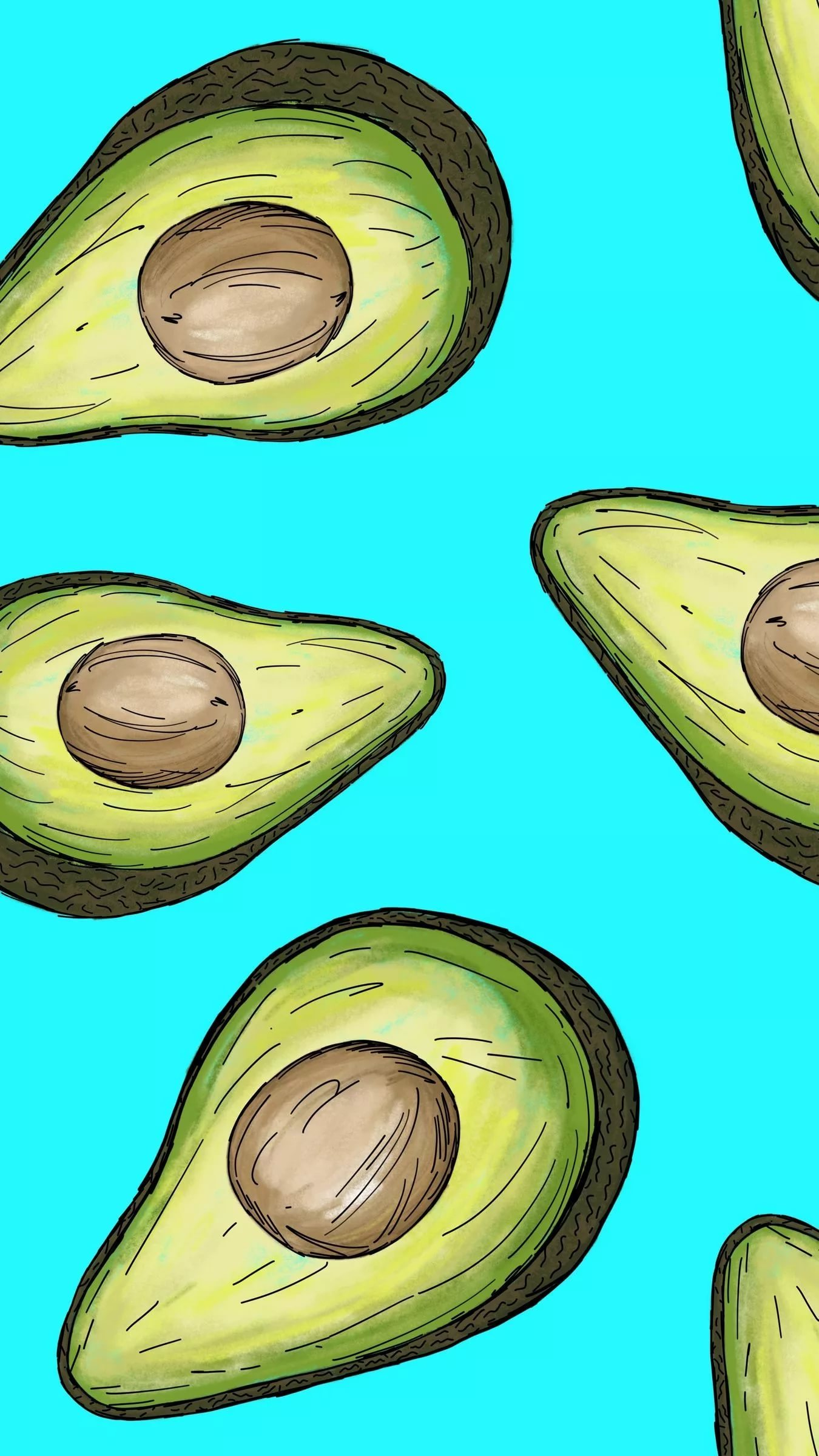 Красивый авокадо рисунок карандашом   коллекция 1