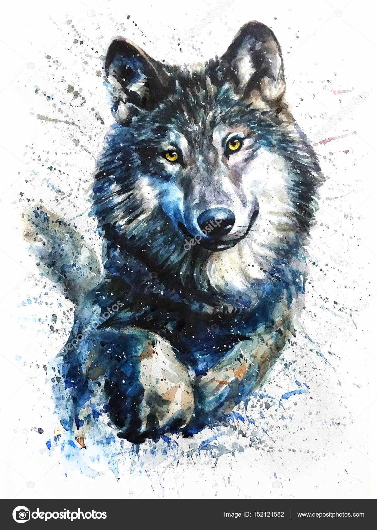 Красивый арт волка, картинки 01