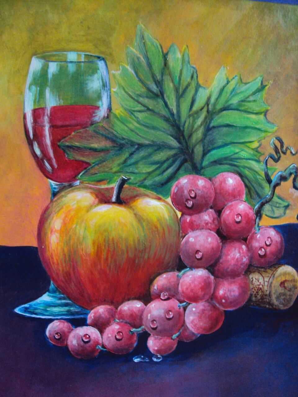 Красивый натюрморт рисунки фруктов 01