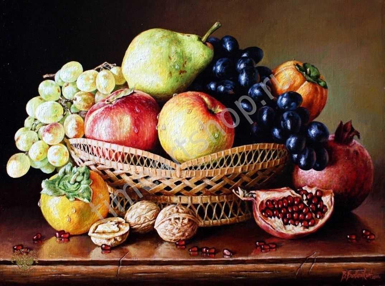 Красивый натюрморт рисунки фруктов 04