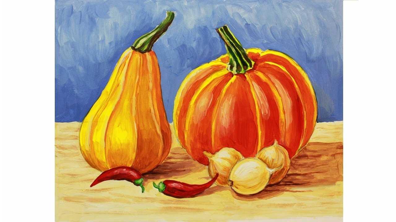 Красивый натюрморт рисунки фруктов 06