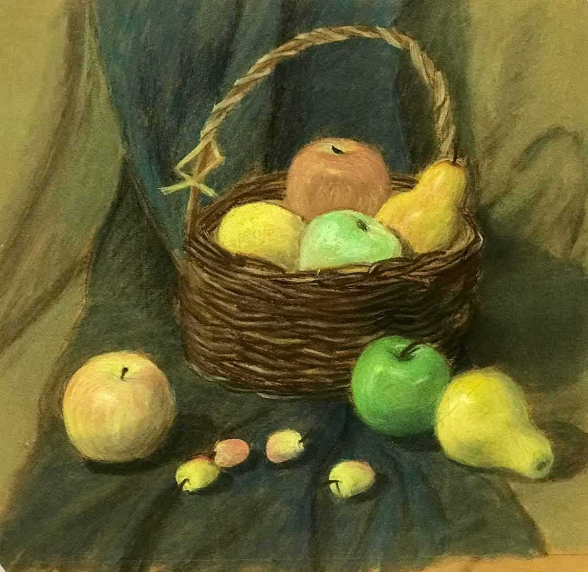 Красивый натюрморт рисунки фруктов 15