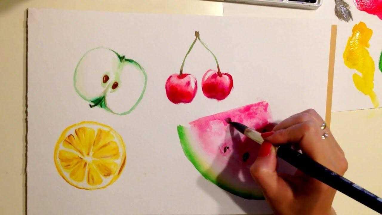 Красивый натюрморт рисунки фруктов 17