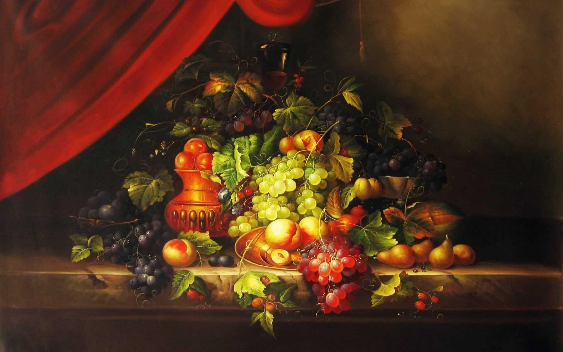 Красивый натюрморт рисунки фруктов 18