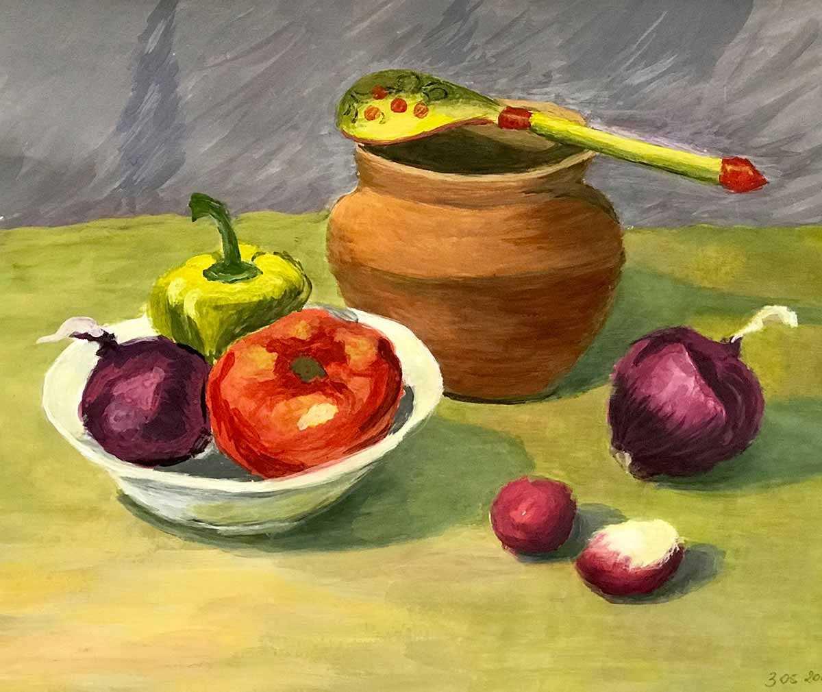 Красивый натюрморт рисунки фруктов 19