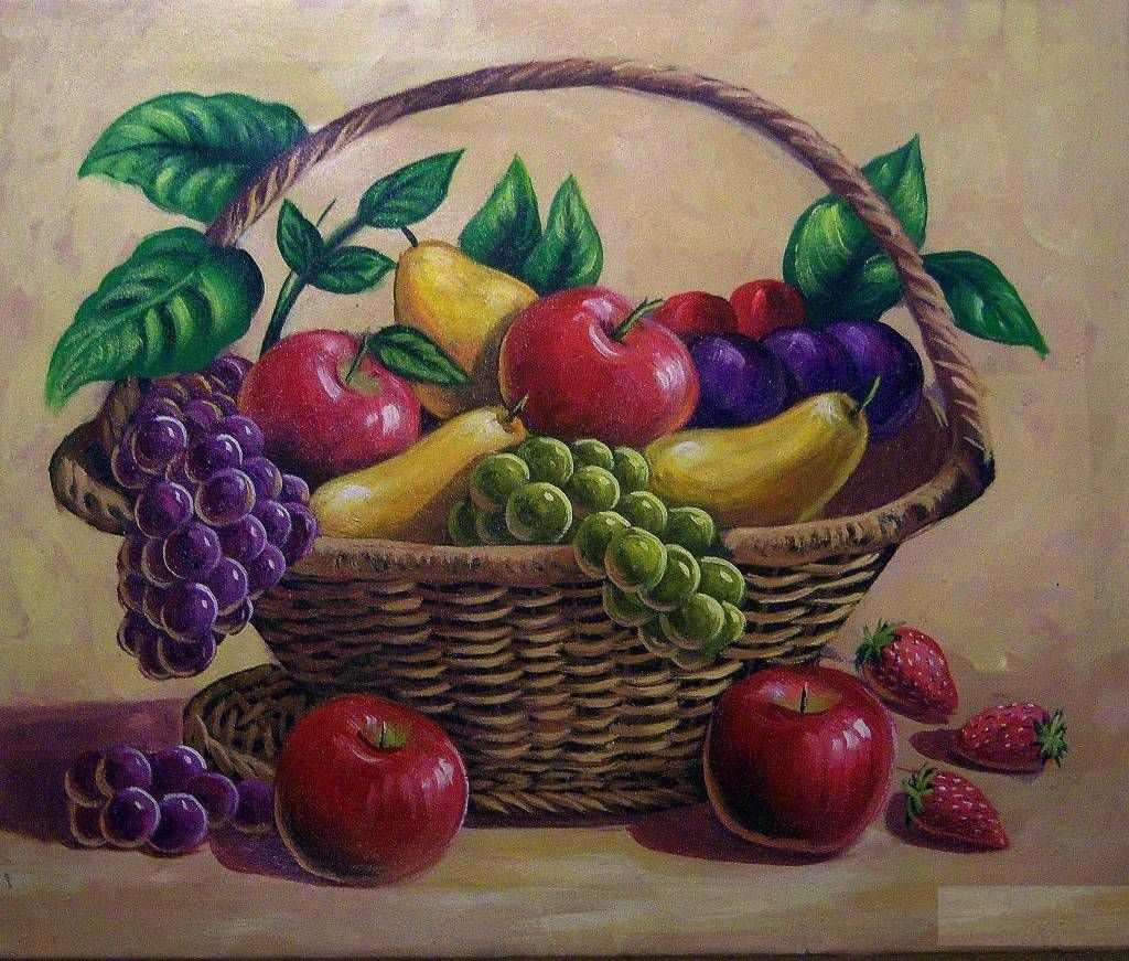 Красивый натюрморт рисунки фруктов 20