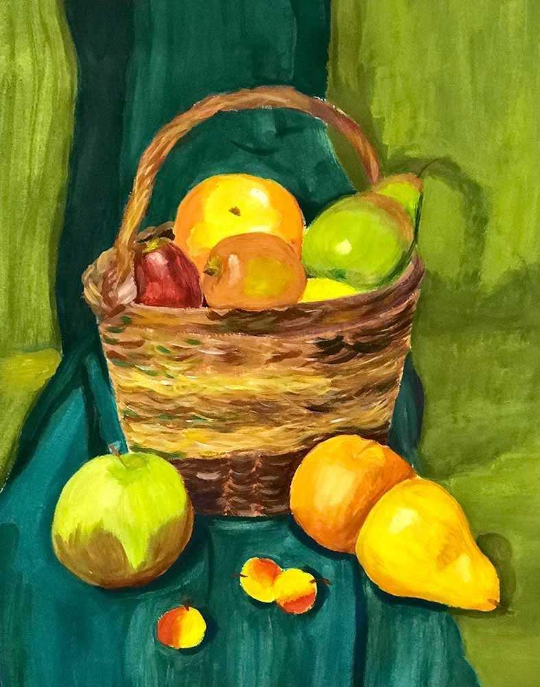 Красивый натюрморт рисунки фруктов 22