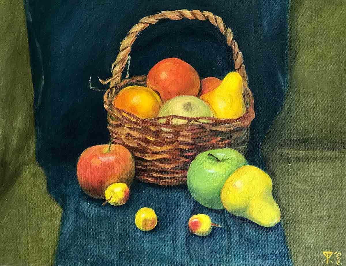 Красивый натюрморт рисунки фруктов 23