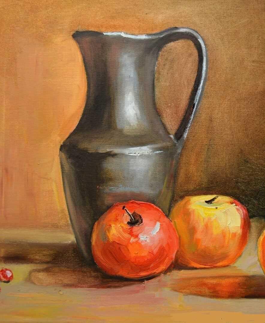 Красивый натюрморт рисунки фруктов 24