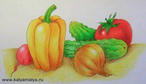 Красивый натюрморт рисунки фруктов 25