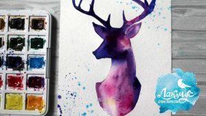 Красивый рисунок оленя, фото и картинки 22
