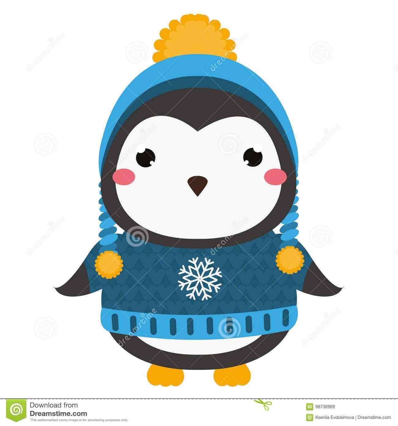 Милый пингвин картинка для детей 01