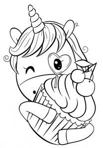 Очень милые картинки единорогов Раскраски 23