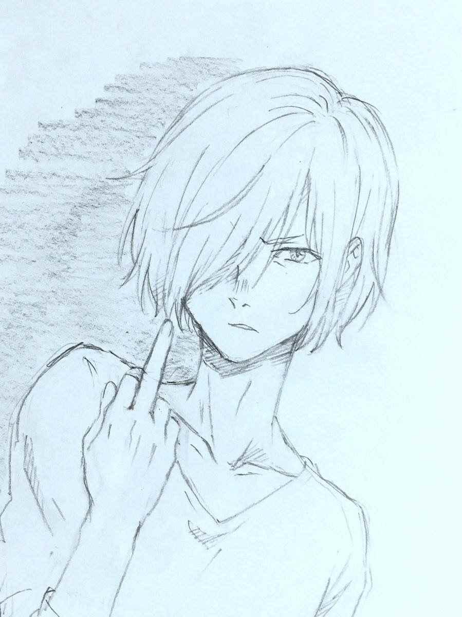 Прикольные аниме рисунки для срисовки парни 03
