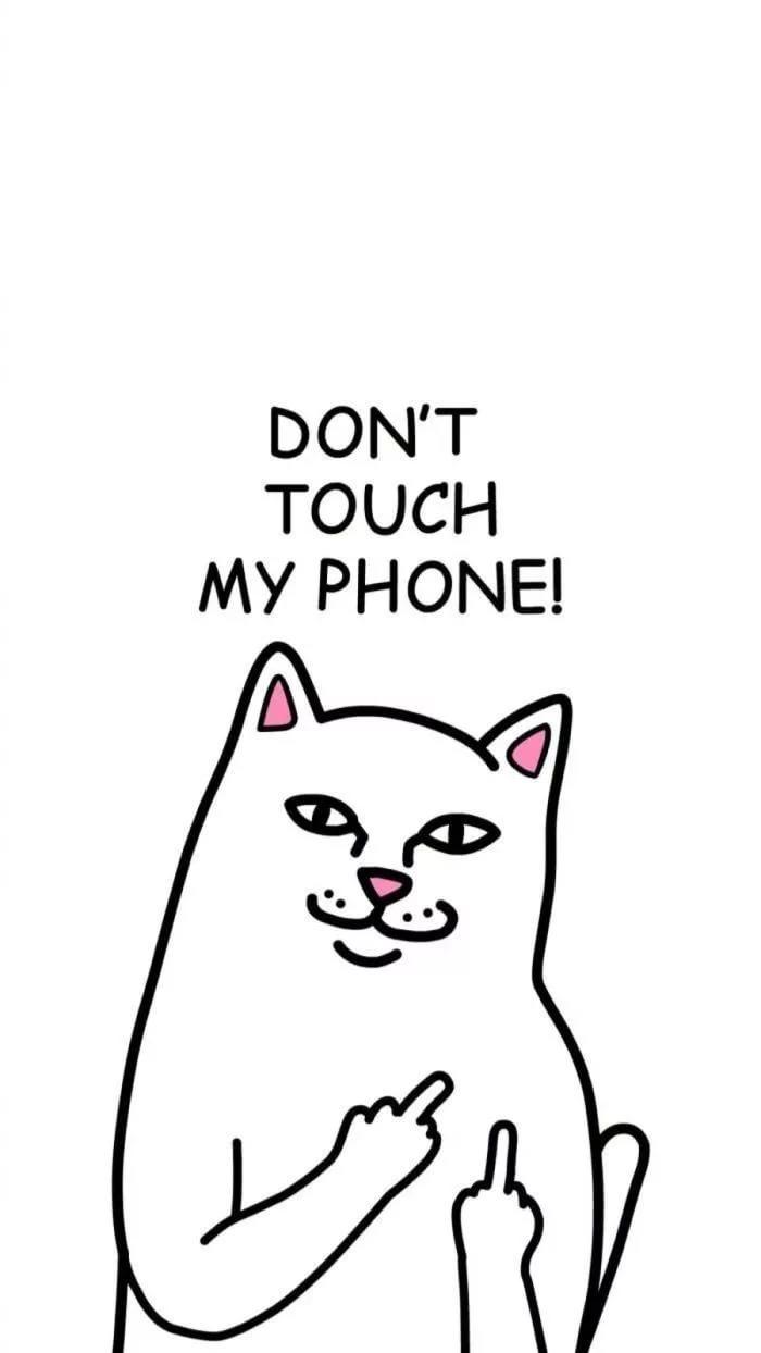 Прикольные обои положи телефон 9
