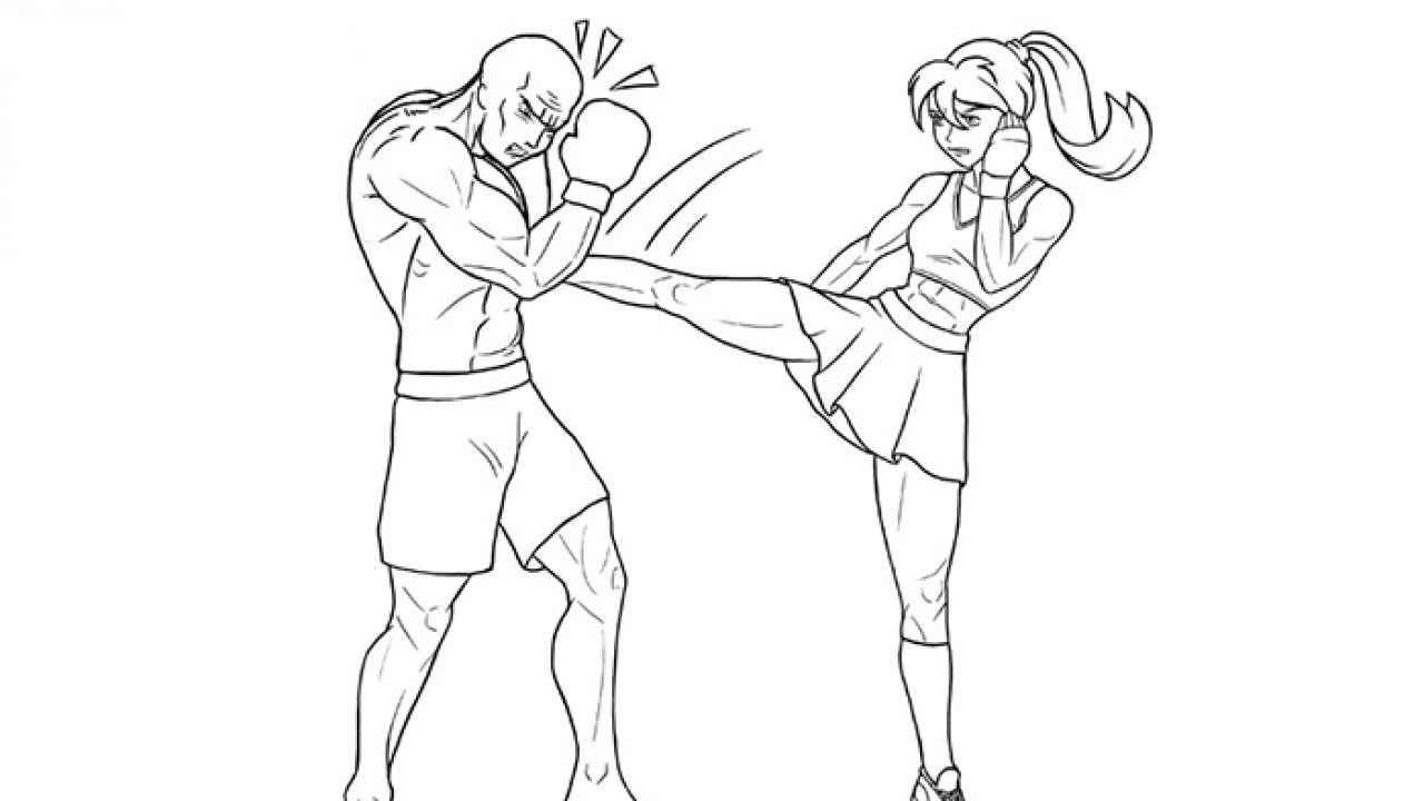 Простые аниме позы для срисовки, рисунки 13