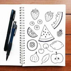 Рисунки для срисовки в скетчбук маленькие и красивые 25