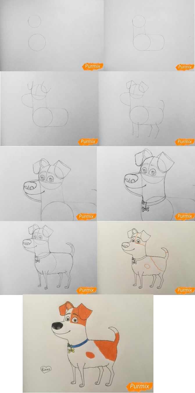 Рисунки карандашом животные из мультиков 03