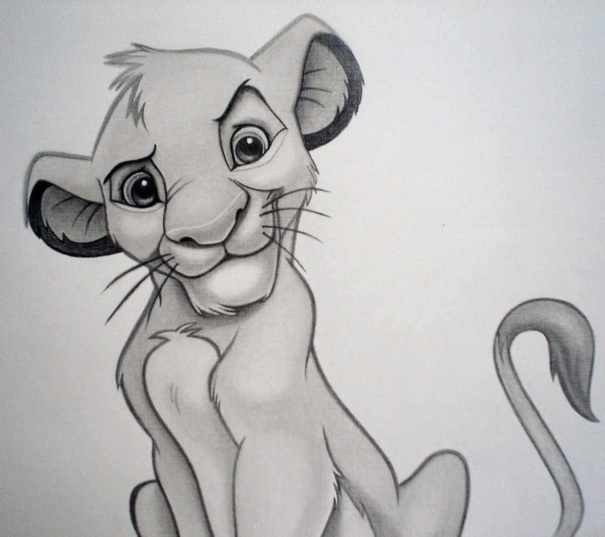 Рисунки карандашом животные из мультиков 08