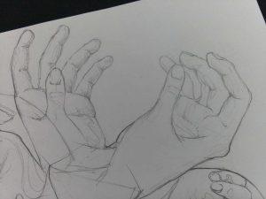 Рисунки рук карандашом для начинающих 22