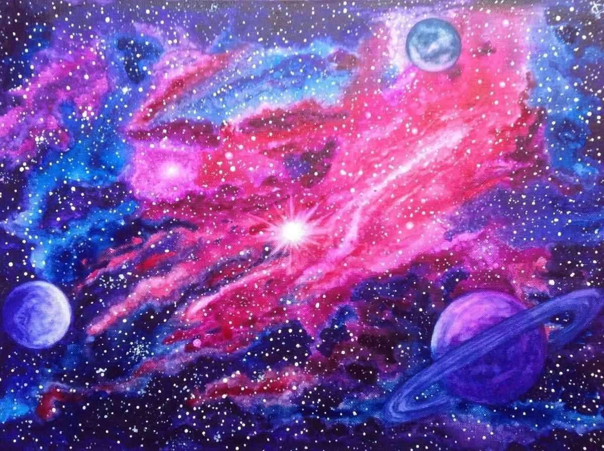 Скачать картинки космоса красивые для срисовки 03
