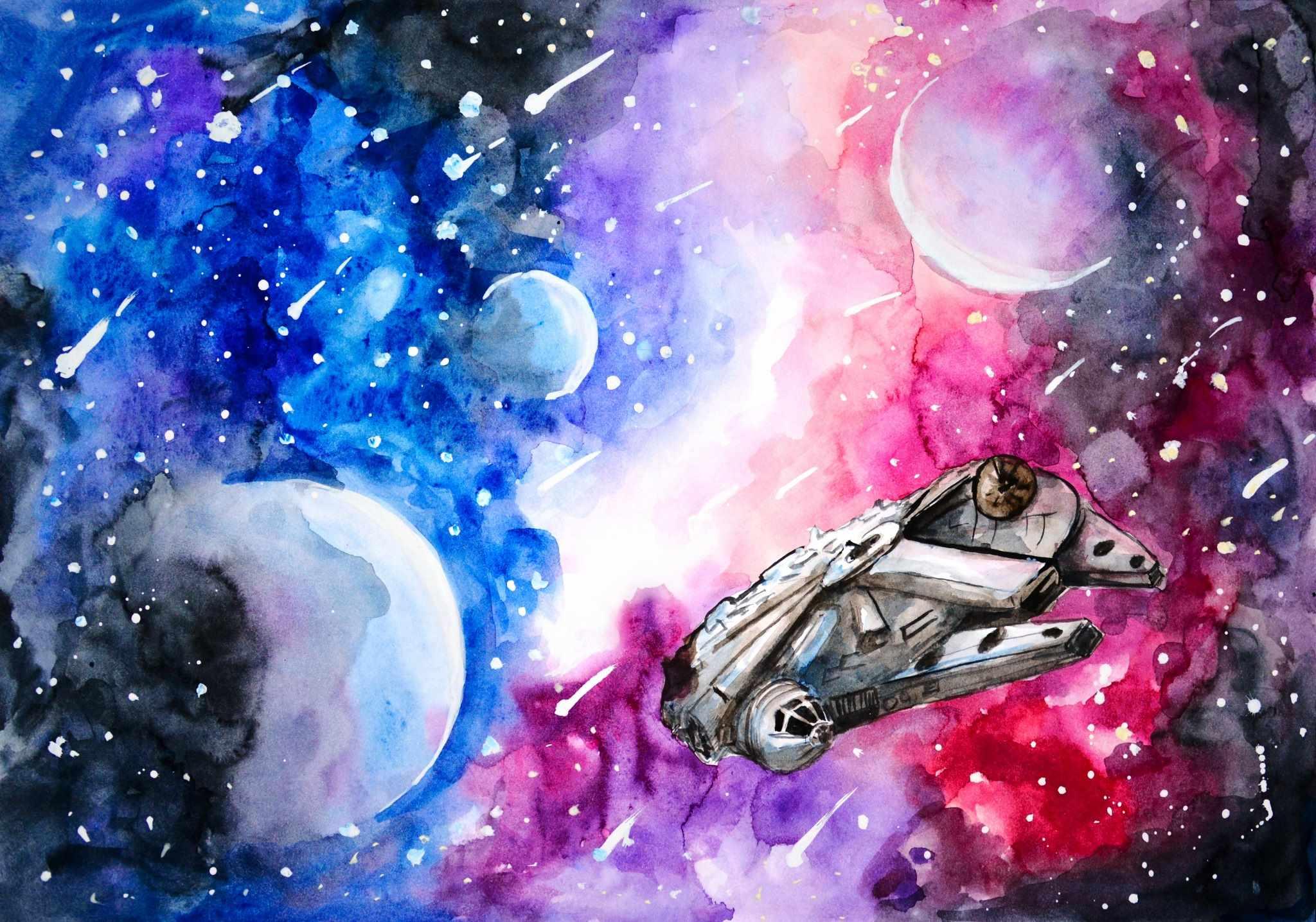 Скачать картинки космоса красивые для срисовки 05