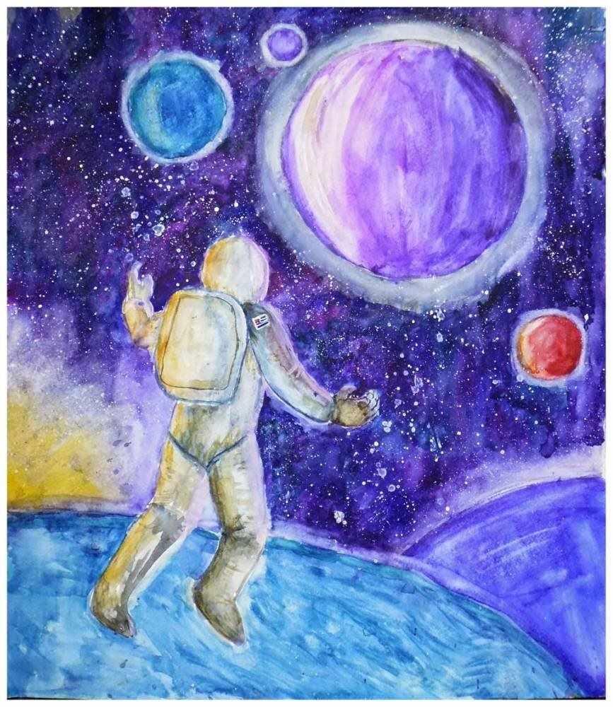 Скачать картинки космоса красивые для срисовки 14