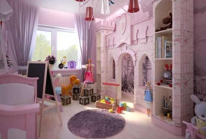 Фото двери в детскую комнату для девочек 01