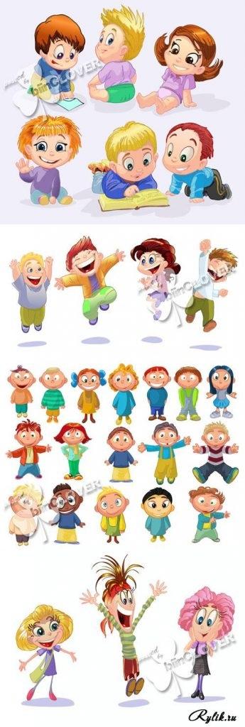 Веселые нарисованные картинки с детьми (1)