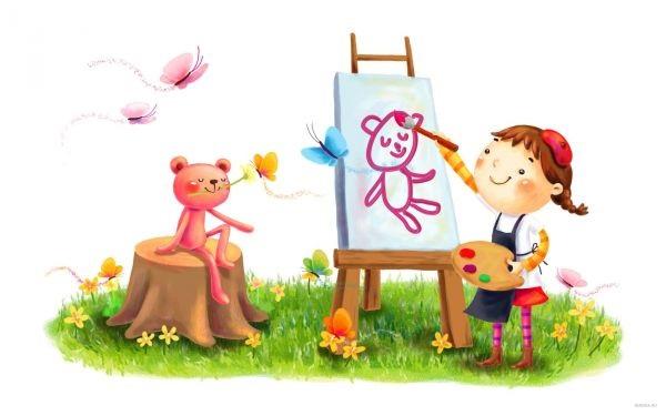 Веселые нарисованные картинки с детьми (13)