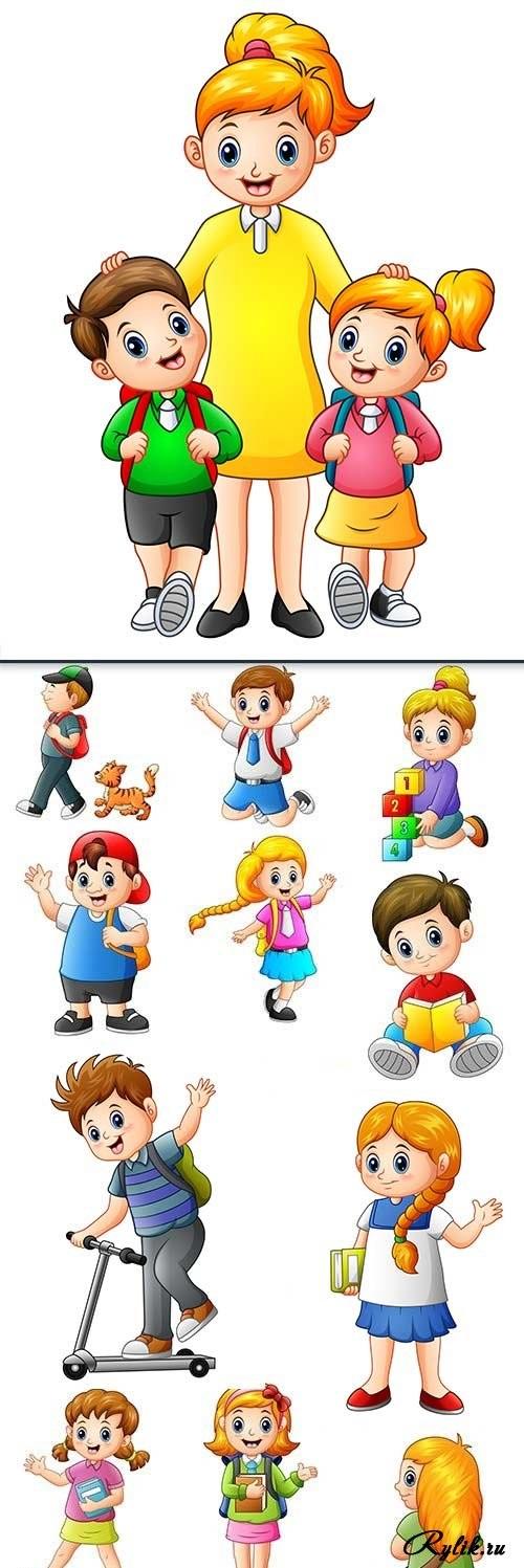 Веселые нарисованные картинки с детьми (15)