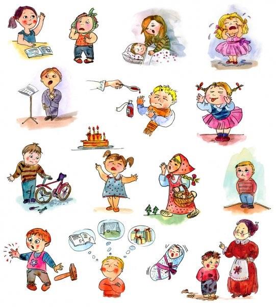 Веселые нарисованные картинки с детьми (2)