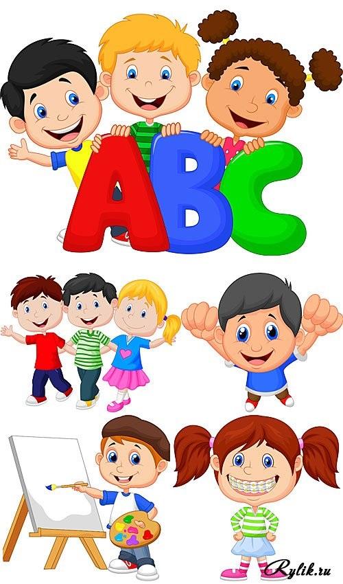 Веселые нарисованные картинки с детьми (20)