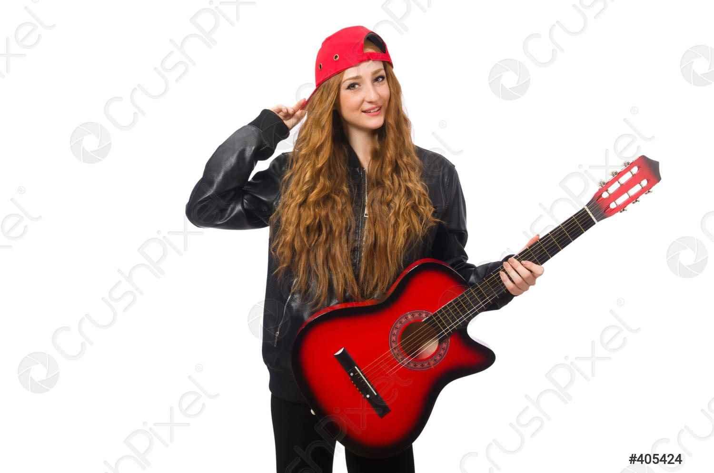 Красивая девушка с гитарой фото, картинки 03
