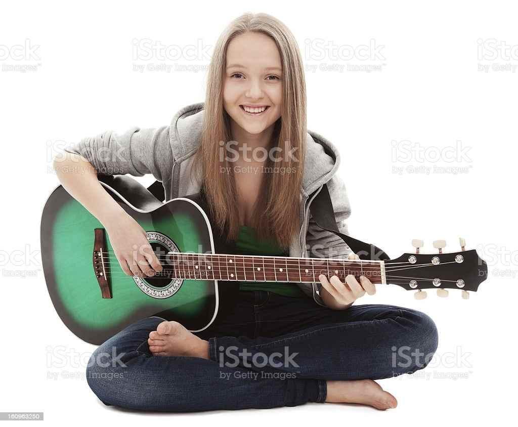 Красивая девушка с гитарой фото, картинки 04