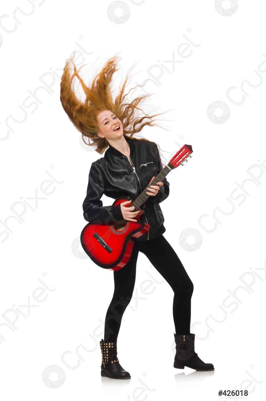 Красивая девушка с гитарой фото, картинки 08