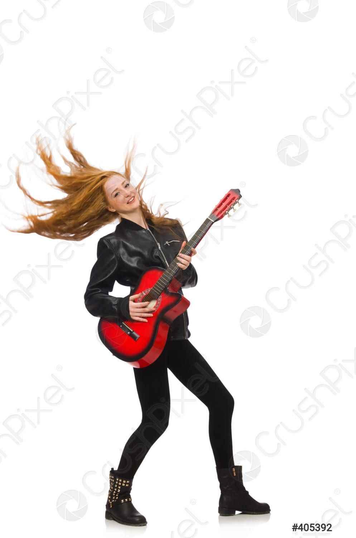 Красивая девушка с гитарой фото, картинки 11