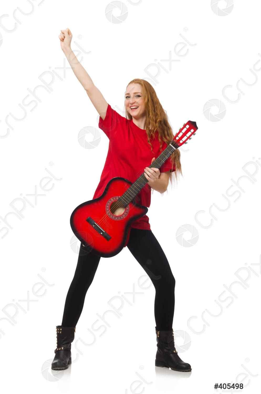 Красивая девушка с гитарой фото, картинки 19