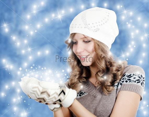 Красивые девушки фото в шапке (23)