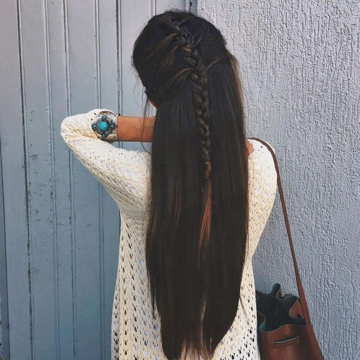 Девушка спиной с длинными волосами фото 2021 (6)