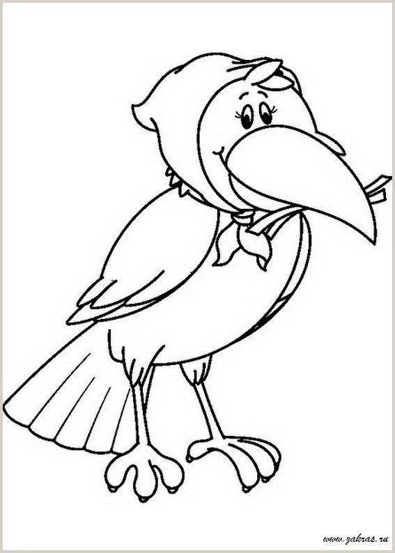 Картинки раскраска для детей Ворона (19)