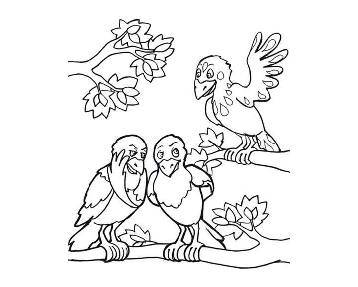 Картинки раскраска для детей Ворона (20)